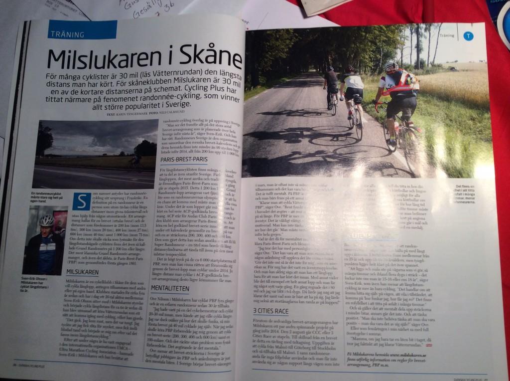 Uppslag från Svenska Cycling Plus No1-04